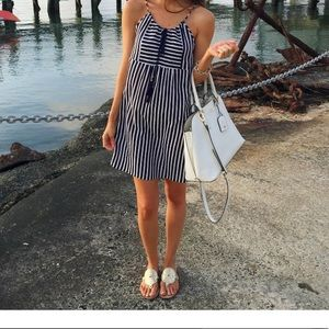J. Crew striped swimsuit cover up